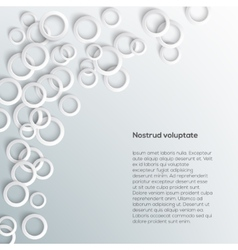 Abstract white paper circles on light background vector image vector image