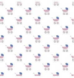 Baby stroller pattern vector