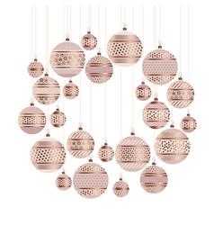 Bauble decor pattern vector