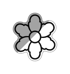 Beautiful flower gardening vector