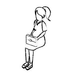 Businesswoman isometric avatar character in a vector