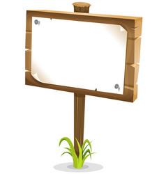 Cartoon wood sign vector