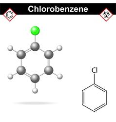 Chlorobenzene molecule vector image