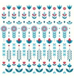 color flower set pattern vector image vector image