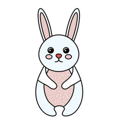 cute and tender rabbit vector image vector image