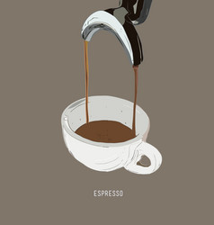 espresso double shot coffee machine vector image