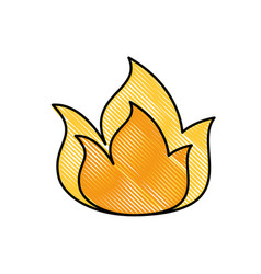 fireball isolated symbol vector image