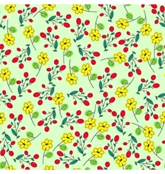 green seamless summer patter with yellow flowers vector image vector image