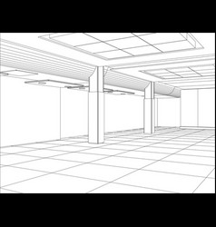 hall of an outline sketch vector image vector image