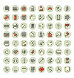 Icons for science vector