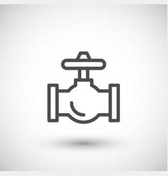 industrial valve line icon vector image vector image