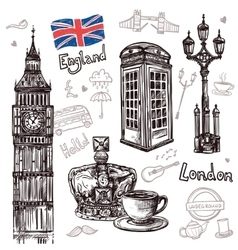 London sketch set vector