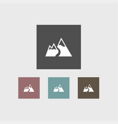 mountain icon simple vector image vector image