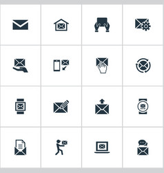 set of simple message icons vector image vector image