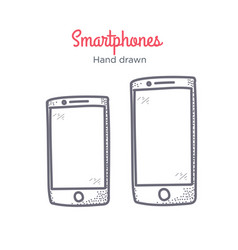 smartphone hand drawn doodle icon vector image vector image