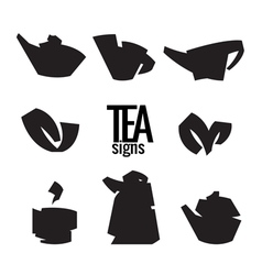 Tea Stylish elements from the folded strips vector image vector image