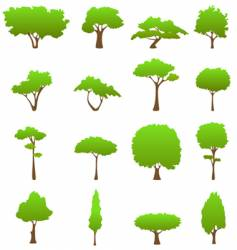 tree design elements vector image