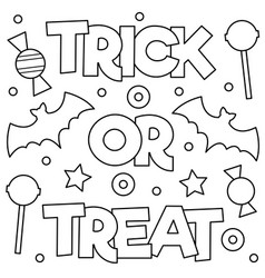 trick or treat coloring page vector image vector image