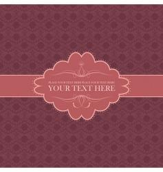 vector vintage card vector image