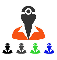 Vision medic flat icon vector