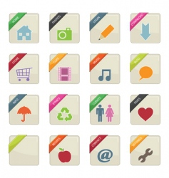 web button badges vector image vector image