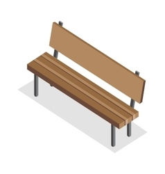 Wooden Bench in Isometric Projection vector image vector image