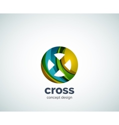 Cross logo template vector