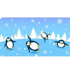 penguin dance vector image