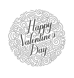 Happy valentines day card original vector