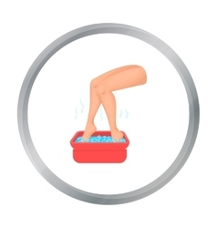 Foot bath icon in cartoon style isolated on white vector