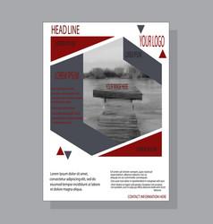 Design brochure template cover design vector