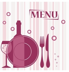 Purple background for cafe menu design vector image