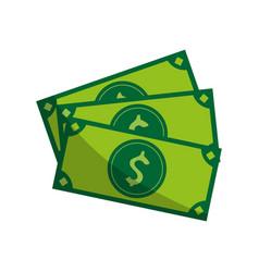 cash money bills icon image vector image