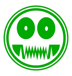 Monster button vector image