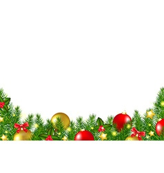 Christmas border with holly berry vector