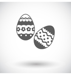 Easter egg single icon vector