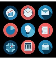 Business icons set and design elements vector