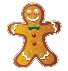 Gingerbread cookie man vector