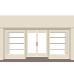 Facade shop Empty storefront Building for store vector image