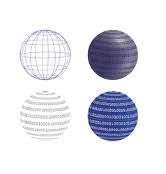 Digital globes vector