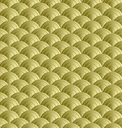 Abstract gold wave seamless pattern background vector image