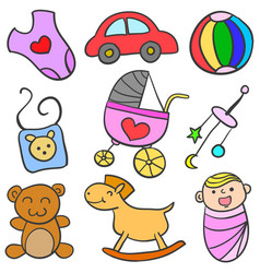 baby object set vector image vector image