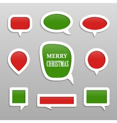 Bubbles for speech merry christmas collection vector image vector image