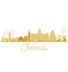 Chennai city skyline golden silhouette vector