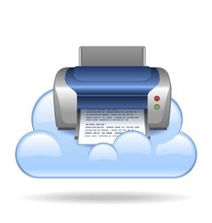 Cloud print vector