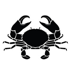 Crab sea animal silhouette vector