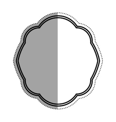 Decorative circle emblem icon vector image vector image