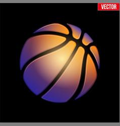 fantasy symbol basketball ball vector image vector image
