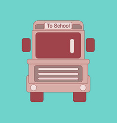 flat icon thin lines school bus vector image vector image