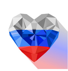 Flat style logo symbol of love russia vector